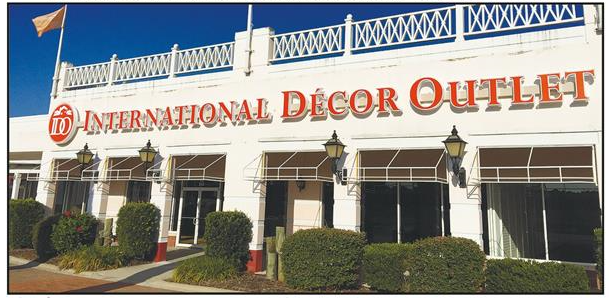 International decor outlet sign mcintosh county for Art decoration international